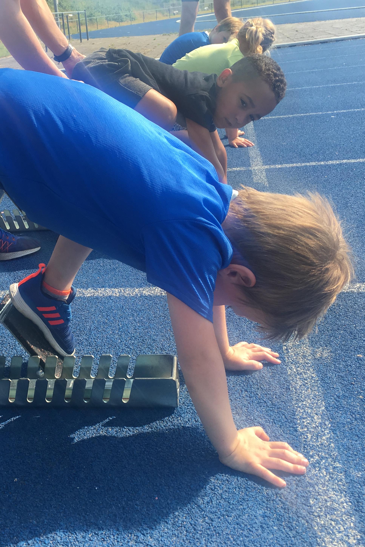 Start sprint oefenen